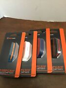 Black Web Fitbit Flex 2 Replacement Band Steel Buckle Lot Of 4 Black White Blue