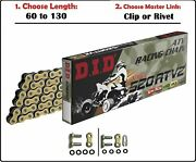 D.i.d Did 520 Atv2 Xring Atv Drive Chain Gold With Clip Or Rivet Master Link