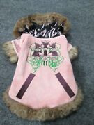 Authentic Juicy Couture Real Fur Small Female Dog Clothes Outfit Dog Clothing