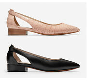 Cole Haan Marcey Skimmer Womenand039s Leather Shoes Mahogany Rose Croco Black Multisz