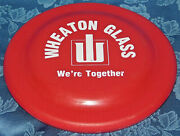 Wheaton Glass Frisbee Fun Flyer Advertising Red Made In Usa 7 X 7 Rare Toy