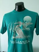 Vintage Ducks T-shirt Lost Canyon Wisconsin Dells Wi Tshirt 90s 80s Teal