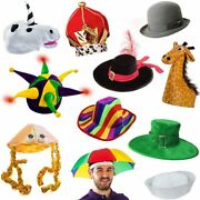 6 Assorted Dress Up Costume And Party Hats By Funny Party Hats 6 Adult Costume