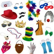 Funny Party Hats Photo Booth Props - Photo Booths For Parties - 18 Pc. Assorted