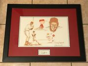 Stan Musial St. Louis Cardinals And Charles M. Schulz Signed Autograph Litho Jsa