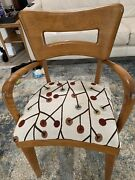 Heywood Wakefield Table With Leaves, Includes Two Armchairs And Five Side Chairs