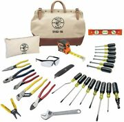 Electrician Hand Tools Set - 28 Piece Pliers Screwdrivers Nut Drivers More