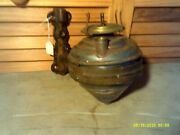 Antique Railroad Nyc New York Central Wall Mount Kerosene Lamp With Bracket