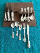 Reddand Barton Francis I Sterling Flatware 5 Pieces Set Service For 8.see List