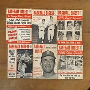 Vtg Baseball Digest Lot 1967 6 Issues Books Official Rosters World Series
