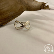 925 Sterling Silver Infinity Ring From Mexico Handmade Jewelry For Woman