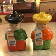 Occupied Japan Salt And Pepper 2sets Mexican Figure Interior Ornament Home Japan