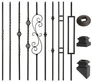 Satin Black - 3/4 Square Mega Hollow Iron Balusters For Stair Remodel