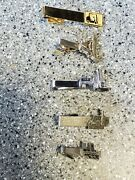 Vintage Swank Cramer Yale Silver And Gold Tone Tie Tack And Clip Lot Vg