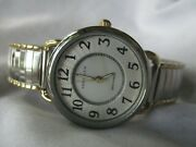 Anne Klein Womenand039s Gold And Silver Toned Wristwatch W/ Metal Expansion Band