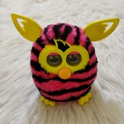 2012 Furby Boom Straight Stripes Pink Black Yellow Untested