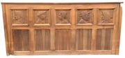 Antique Carved Walnut Solid Wood Door Wall Panel Or Headboard French Country