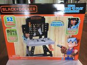 Black And Decker Mega Power N' Play Workbench W/ Sounds + 52 Tools And Acc. New