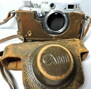 Occupied Japan 1940's 50's Canon Rangefinder Camera Body And Case Only No.38944