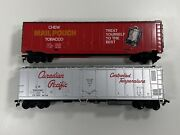 Ho Tyco 50and039 Plug Door Box Car 374a Chew Mail Pouch Tobacco And Canadian Pacific