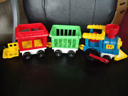 Vintage 1991 Fisher Price Little People Circus Train 3 Pc Set Excellent