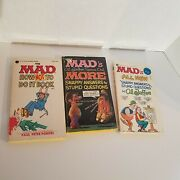 3 Mad Magazine, First Editions, 70s, Rare And Vintage, Collectible Paperback Books