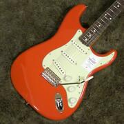 New Fender Jp Traditional 60s Stratocaster Electric Guitar Fiesta Red