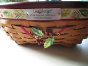 Longaberger 2011 Christmas Collection Large Holly Berry Basket