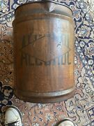 Antique Everclear Alcohol Can Tin Container 4 Gallons