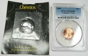 2000-p Pcgs Ms66rd Red Cheerios 1c Penny Lincoln Cent Us Coin Item 25498j