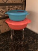 Tupperware Crystalwave Diveded Dish/ Crystalwave 2 1/2 Cup Container