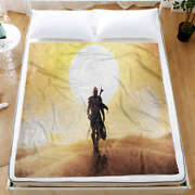 Image Of Brave And Tough Man 3d Warm Plush Fleece Blanket Picnic Sofa Couch