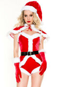 Sexy Adult Ms Santa Claus Christmas Romper Costume