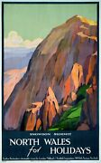 North Wales By Roger Broders - Very Rare Original And Unknown Vintage Poster