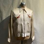 Vintage 1940and039s Souvenir Jacket Embroidery Outerwear Long Sleeve Rare