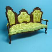 Dollhouse Miniature Gold Rococo Sofa Couch Platinum Collection P6026