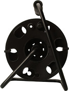 Woods 22849 Metal Extension Cord Reel Stand In Black Heavy Duty Quick Snap To...