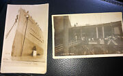 Postcard Picture H M S Orion Launching 1910 Orig. Pair