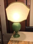Rare Venitian Hand Blown Glass Lamp With Shade Green 4300 Msrp 31 X 21