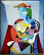 Picasso Hand Painted Oil Painting On Canvas Marie-therese 40 X 32