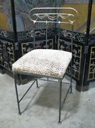 1990 Signed Mario Villa Steel And Bronze Neoclassic Style Chair Chetteh Seat