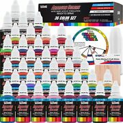 U.s. Art Supply 36 Color Deluxe Acrylic Airbrush Leather And Shoe Paint Set
