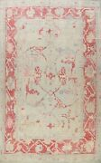 Vegetable Dye Authentic Oushak Hand-knotted Muted Turkish Large Area Rug 10x13