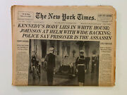 New York Times 24 November 1963 Filed Copy Death Of Jfk Complete All Sections