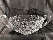 Vintage American Fostoria Clear Glass 12 3/4 Trophy Cup Center Console Bowl2