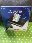 Sony Playstation 3 Ps3 500gb Super Slim Game Console And Controller