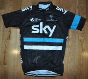Geraint Thomas Signed Black Sky Team Cycling Jersey With Photo Proof