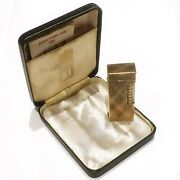 9 Carat Solid Gold 1961 Alfred Dunhill London Rollagas Lighter, Pebble...