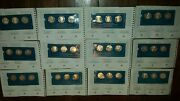 Set Of 36 Sterling Silver Medals Franklin Mint Silver Bullion Art Rounds