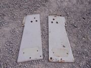 Farmall International 806 Tractor Front Right And Left White Radiator Side Panels